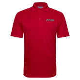 Red Textured Saddle Shoulder Polo-Stags