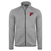 Grey Heather Fleece Jacket-F