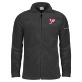 Columbia Full Zip Charcoal Fleece Jacket-F