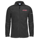 Columbia Full Zip Charcoal Fleece Jacket-Stags