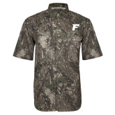 Camo Short Sleeve Performance Fishing Shirt-F Tone