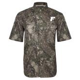 Camo Short Sleeve Performance Fishing Shirt-F Tone