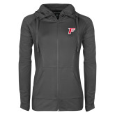 Ladies Sport Wick Stretch Full Zip Charcoal Jacket-F