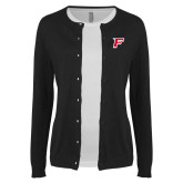 Ladies Black Cardigan-F