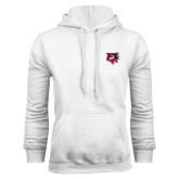 White Fleece Hood-Official Logo