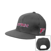 Steel Grey Flat Bill Snapback Hat-Stags
