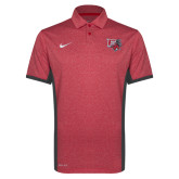 NIKE Red Heather Victory Block Polo-