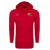 NIKE Red Stadium Dri Fit Touch Hoody-
