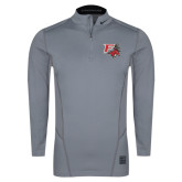 NIKE Cool Grey Hyperwarm 1/4 Zip Top-