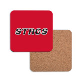 Hardboard Coaster w/Cork Backing-Stags