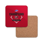 Hardboard Coaster w/Cork Backing-2017 MAAC Softball Champions - Diamond