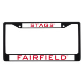 Metal License Plate Frame in Black-Stags
