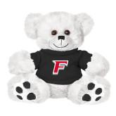 Plush Big Paw 8 1/2 inch White Bear w/Black Shirt-F