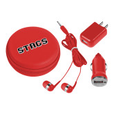 3 in 1 Red Audio Travel Kit-Stags