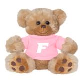 Plush Big Paw 8 1/2 inch Brown Bear w/Pink Shirt-F