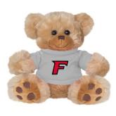 Plush Big Paw 8 1/2 inch Brown Bear w/Grey Shirt-F