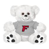 Plush Big Paw 8 1/2 inch White Bear w/Grey Shirt-F