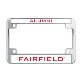 Metal Motorcycle License Plate Frame in Chrome-Alumni