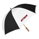 62 Inch Black/White Umbrella-Stags