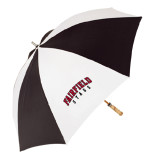 62 Inch Black/White Umbrella-Fairfield Stags Stacked