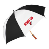 62 Inch Black/White Umbrella-Stags Up