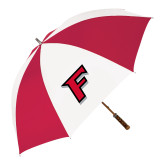 62 Inch Red/White Vented Umbrella-F