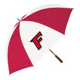 62 Inch Red/White Vented Umbrella-F