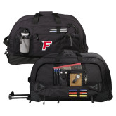 Urban Passage Wheeled Black Duffel-F
