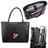 Sophia Checkpoint Friendly Black Compu Tote-F