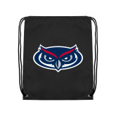 Black Drawstring Backpack-Mascot
