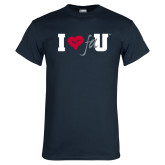Navy T Shirt-I Heart FAU