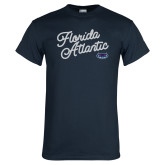 Navy T Shirt-Fancy Script