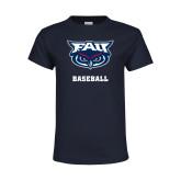 Youth Navy T Shirt-Baseball