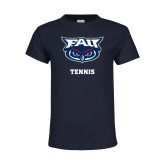 Youth Navy T Shirt-Tennis