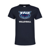 Youth Navy T Shirt-Volleyball
