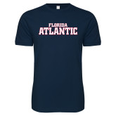 Next Level SoftStyle Navy T Shirt-Wordmark