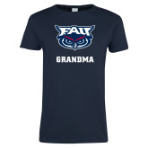 Ladies Navy T Shirt-Grandma