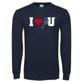 Navy Long Sleeve T Shirt-I Heart FAU