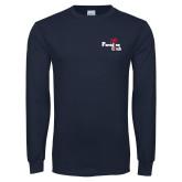 Navy Long Sleeve T Shirt-Paradise Club