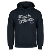 Navy Fleece Hoodie-Fancy Script