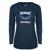 Ladies Syntrel Performance Navy Longsleeve Shirt-Softball