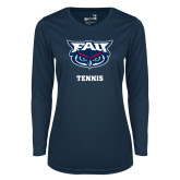 Ladies Syntrel Performance Navy Longsleeve Shirt-Tennis