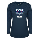 Ladies Syntrel Performance Navy Longsleeve Shirt-Mom