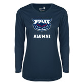 Ladies Syntrel Performance Navy Longsleeve Shirt-Alumni