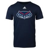 Adidas Navy Logo T Shirt-Mascot