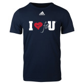 Adidas Navy Logo T Shirt-I Heart FAU