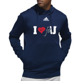 Adidas Navy Team Issue Hoodie-I Heart FAU