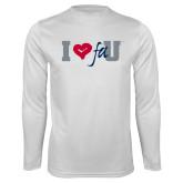 Performance White Longsleeve Shirt-I Heart FAU