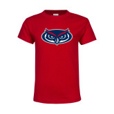 Youth Red T Shirt-Mascot
