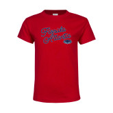 Youth Red T Shirt-Fancy Script